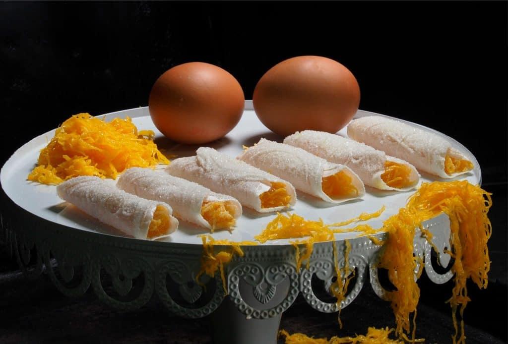 Receita de charuto de ovo