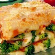 Receita de Lasanha de brócolis com queijo