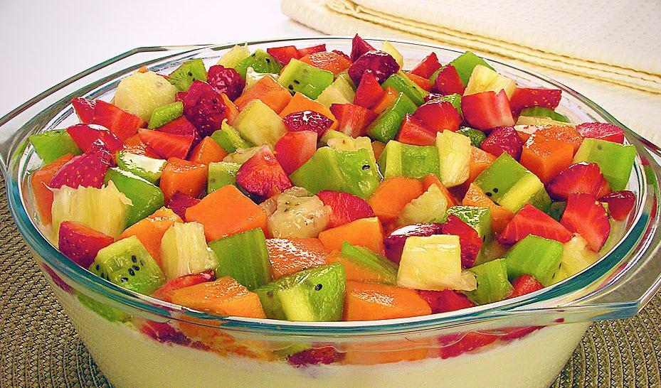 Receita de Mousse de frutas