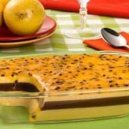 Receita de Mousse de maracujá com creme trufado