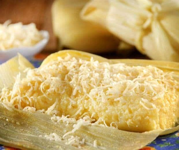 Receita de Pamonha ao queijo