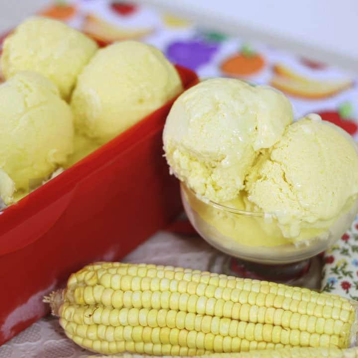 Receita de sorvete de milho