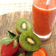 Receita de Suco detox de morango com kiwi