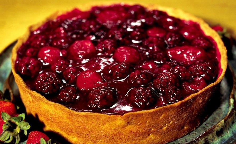 Receita de Torta com frutas vermelhas