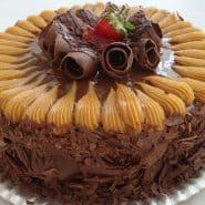 Receita de Torta de chocolate com doce de leite