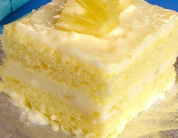 Receita de bolo de abacaxi