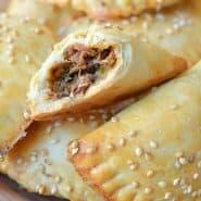 Receita de Pastel de forno recheado com carne de panela