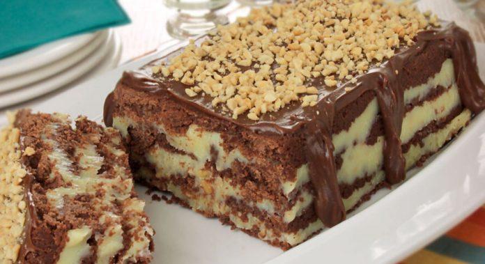 Receita de Torta-cookie com amendoim