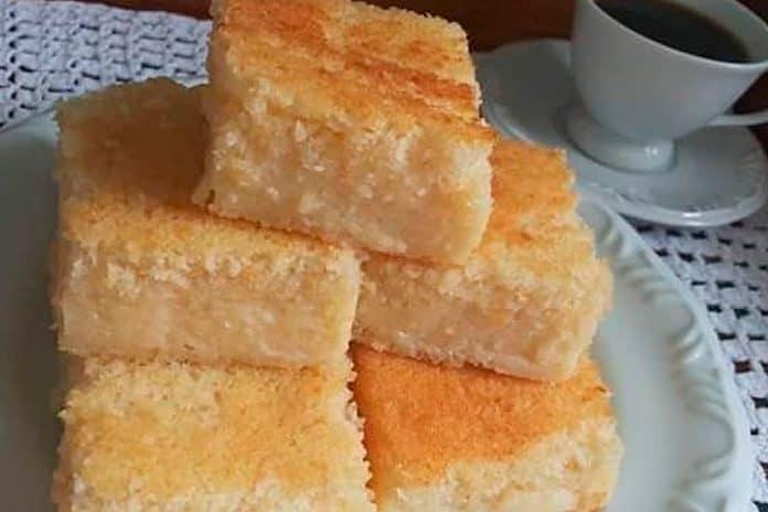 Receita de bolo queijadinha