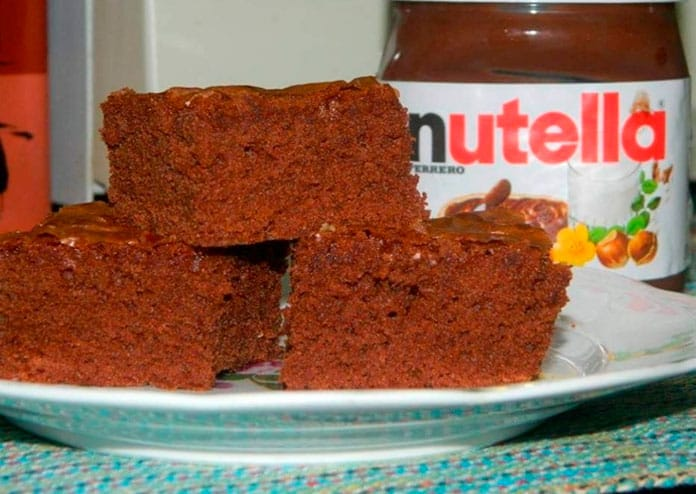 Receita de Brownie de Nutella