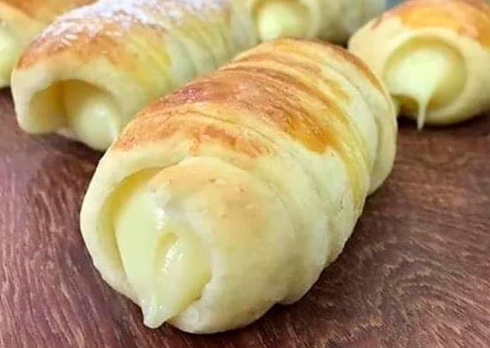 Receita de Enroladinho de queijo crocante