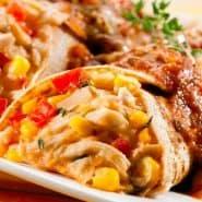 Receita de Panqueca de milho com frango