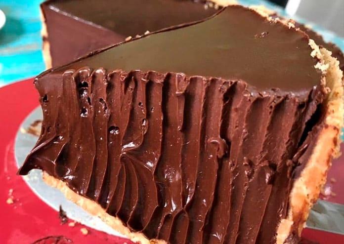 Receita de Torta de chocolate cremosa