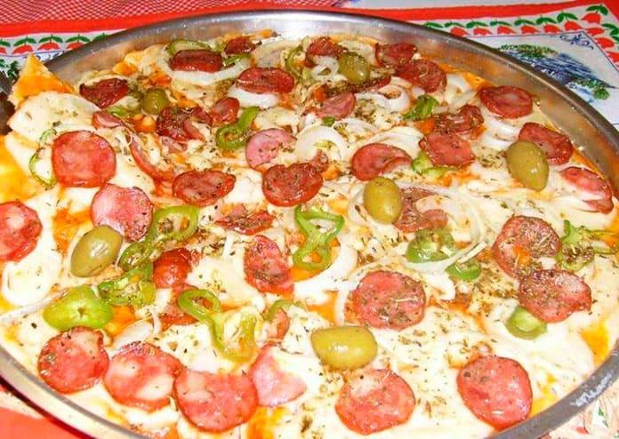 Receita de Massa especial para pizza