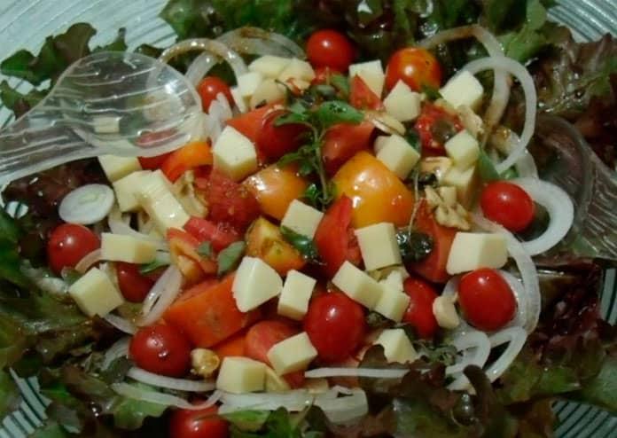 Receita de salada natalina