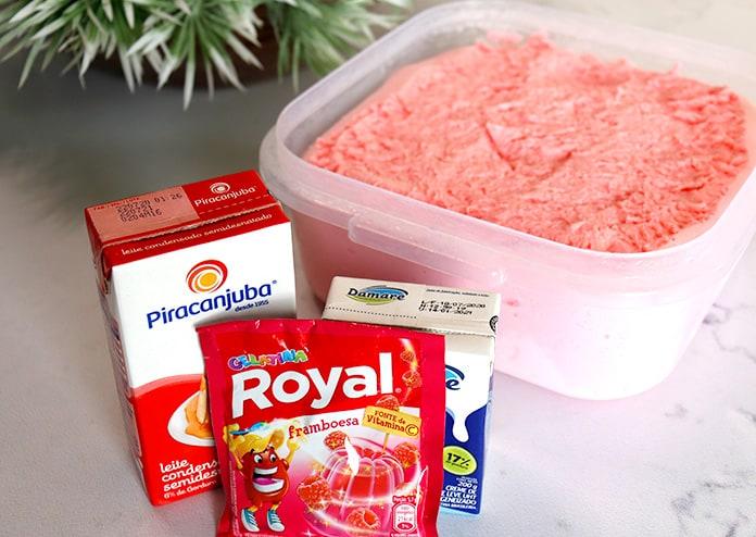 Receita de sorvete caseiro de gelatina com apenas 3 ingredientes