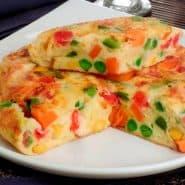Receita de Omelete recheado com legumes