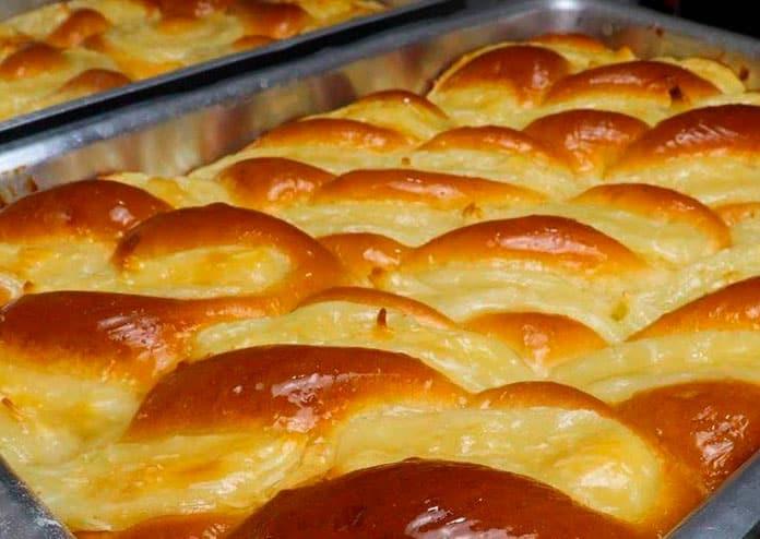 Receita de pão doce de creme