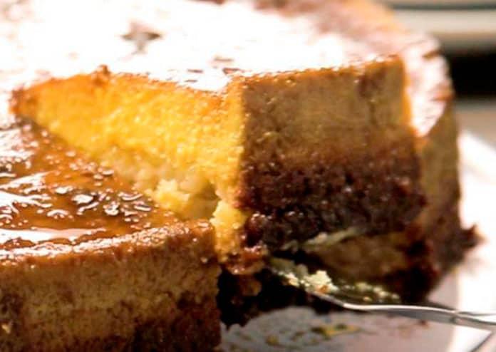 Receita de bolo pudim em camadas