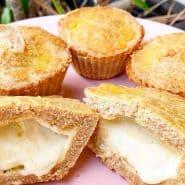 Receita de Empadinha low carb recheada com queijo
