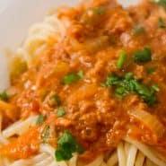 Receita de Espaguete com molho de atum
