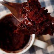 Receita de Bolo de caneca de chocolate sem glúten
