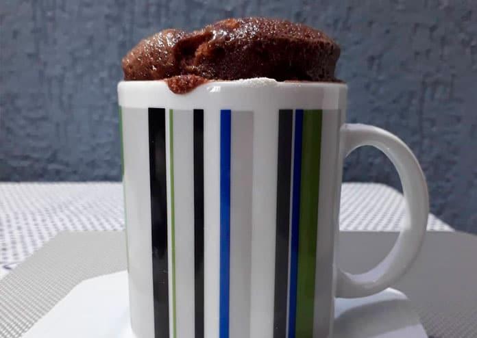 Receita de bolo de caneca de chocolate