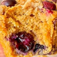 Receita de Muffin de mirtilos e limão siciliano