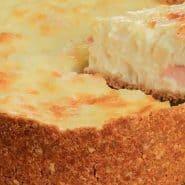 Receita de Torta cremosa de queijos com peito de peru e palmito
