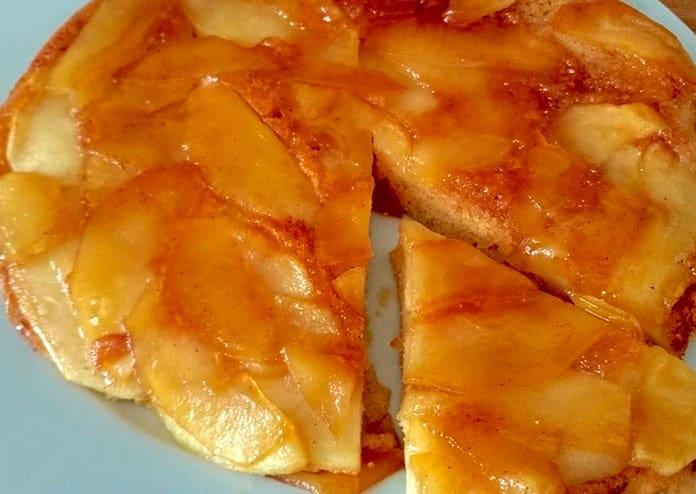 Receita de Torta de maçã low carb de frigideira