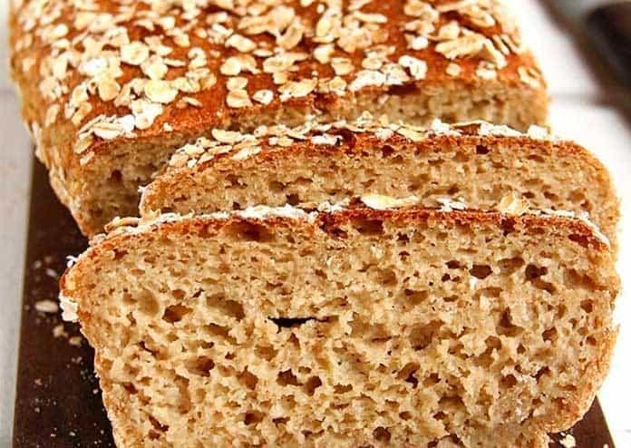 Receita de Pão de Aveia fit