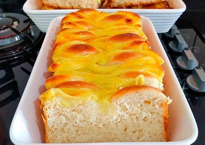 Receita de pão doce com creme