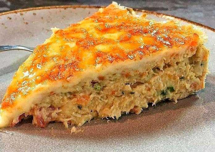Receita de Torta Salgada Low carb de Frango