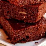 Receita de Brownie feijão branco cozido