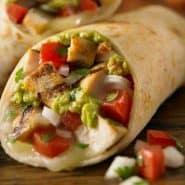Receita de Burrito de frango