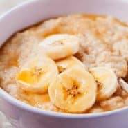 Receita de Mingau de aveia e banana