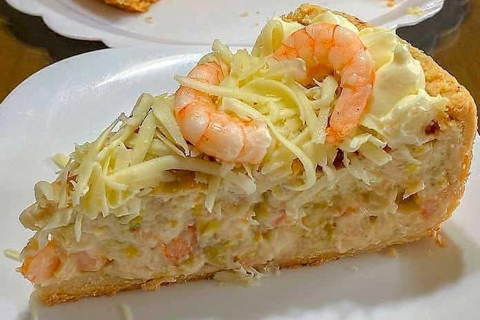 Receita de torta salgada de camarão